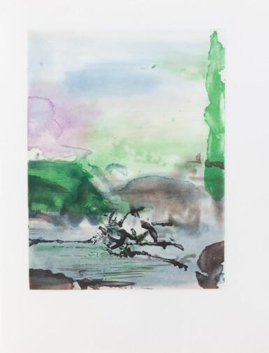 View 2. Thumbnail of Lot 180.  Randonnées. Paris, Yves Rivière, 1974. In-4. En feuilles. Un des 24 exemplaires d'artiste..