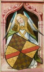 NORTHERN FRENCH SCHOOL, CIRCA 1480   A pair of angels with coats of arms
