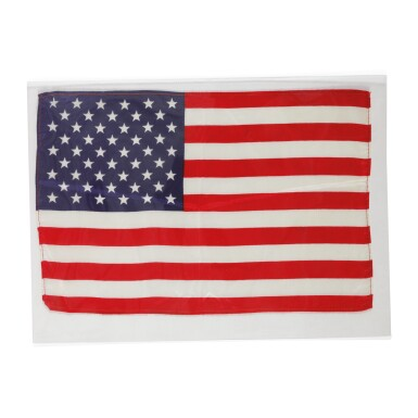 View 1. Thumbnail of Lot 94. [APOLLO 10]. FLOWN ON APOLLO 10. LARGE UNITED STATES OF AMERICA FLAG FROM THE COLLECTION OF JOHN YOUNG.