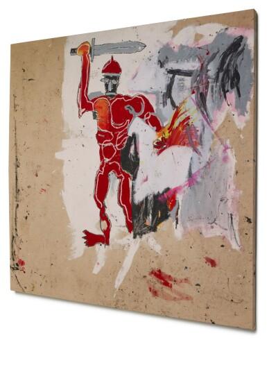 View 3. Thumbnail of Lot 1118. Jean-Michel Basquiat 尚・米榭・巴斯基亞   Untitled (Red Warrior) 無題(紅戰士)     .