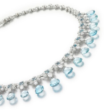 View 2. Thumbnail of Lot 290. MICHELE DELLA VALLE | AQUAMARINE AND DIAMOND NECKLACE.