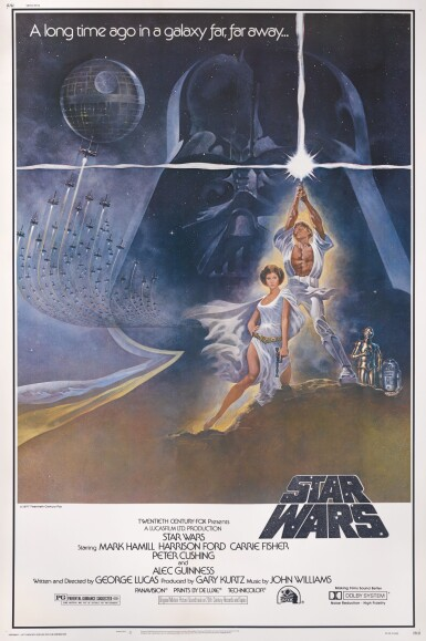 View 1. Thumbnail of Lot 21. STAR WARS, US STYLE A POSTER, TOM JUNG, 1977.