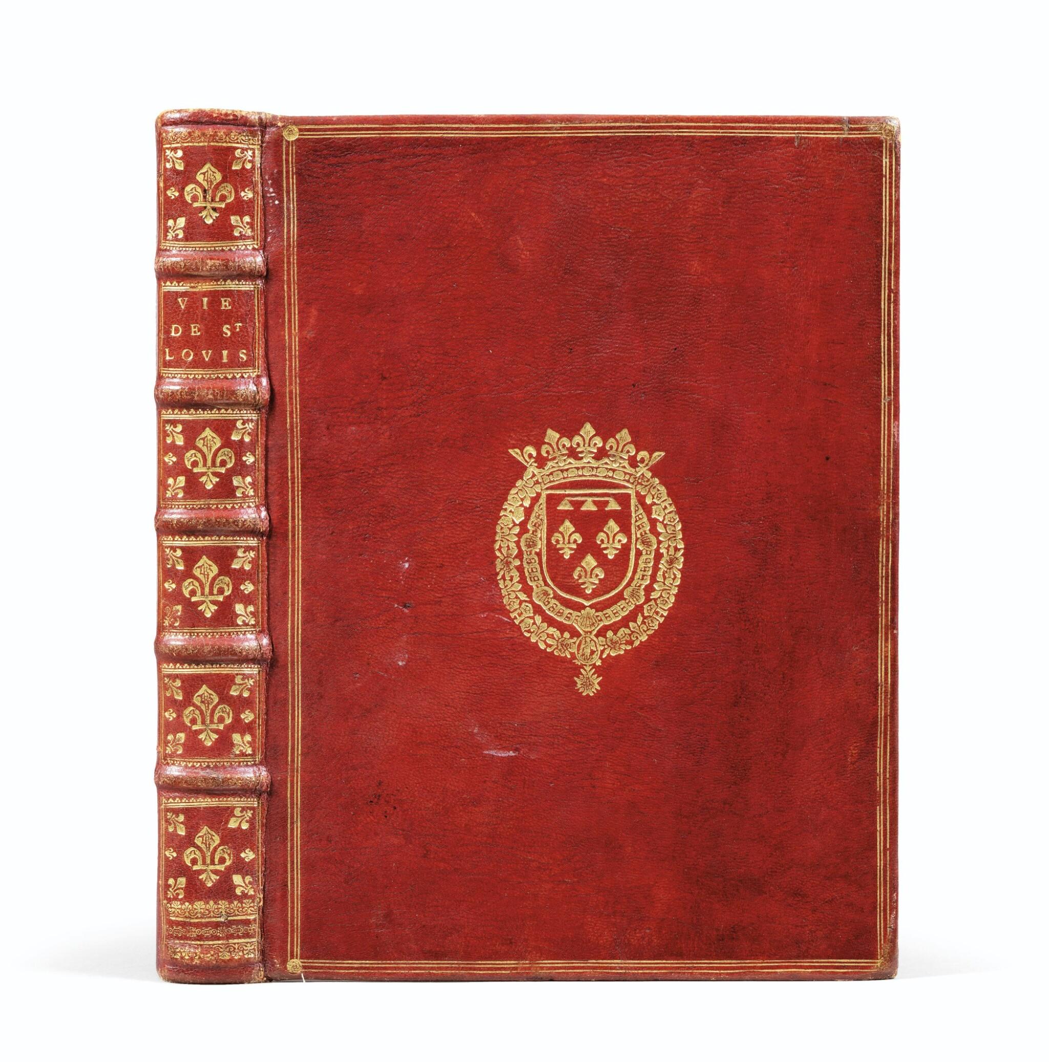 View full screen - View 1 of Lot 9. La Vie de Saint-Louis. Paris, 1689. Exemplaire de présent aux armes du Régent. Edition originale..