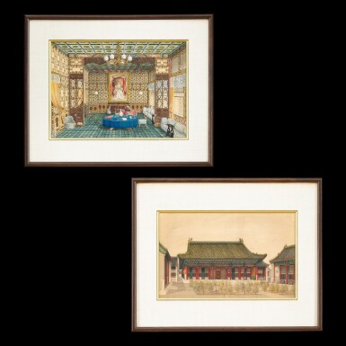 View 1. Thumbnail of Lot 182. Anonymous, 1861 Two Views of the British Legation in Peking, commissioned by Frederick Bruce | 佚名 1861年   北京英國公使館二景一組兩幅   由英國外交官弗雷德里克.布魯斯委託而製.