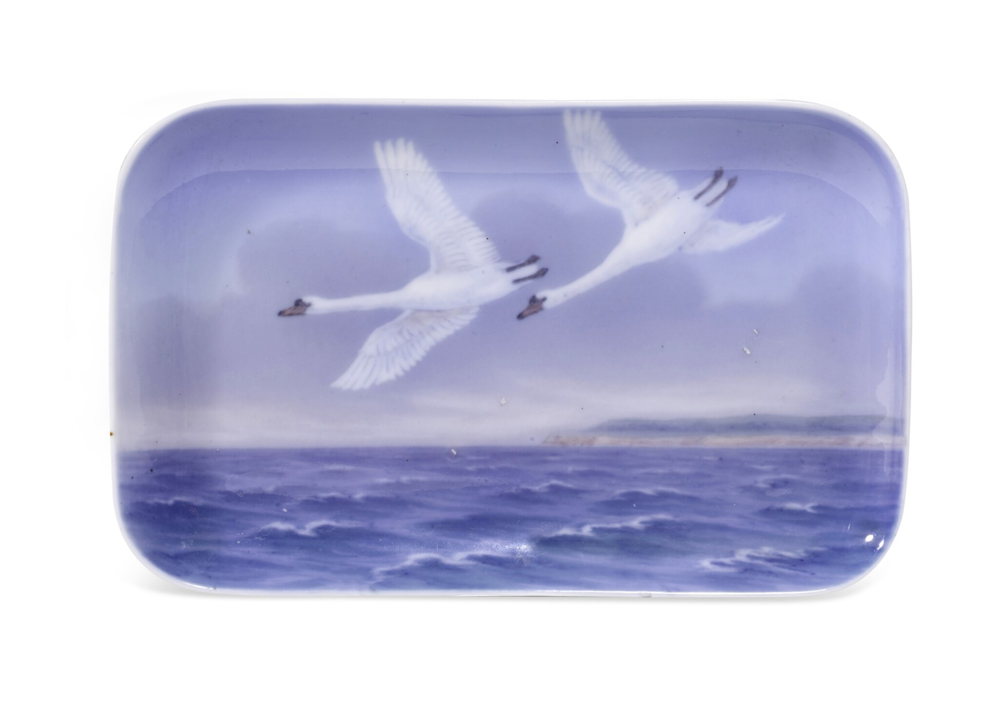 View full screen - View 1 of Lot 271. A ROYAL COPENHAGEN RECTANGULAR TRAY, EARLY 20TH CENTURY.