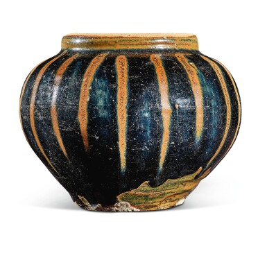 View 2. Thumbnail of Lot 105. A russet-painted black-glazed jar, Northern Song / Jin dynasty   北宋 / 金 黑釉醬斑罐.