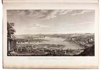 View 1. Thumbnail of Lot 79. Melling. Voyage pittoresque de Constantinople. 1819. 2 volumes. folio. plates edge-bound. The Atabey copy.