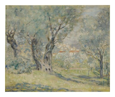 FREDERICK CARL FRIESEKE | OLIVE TREES, CAGNES