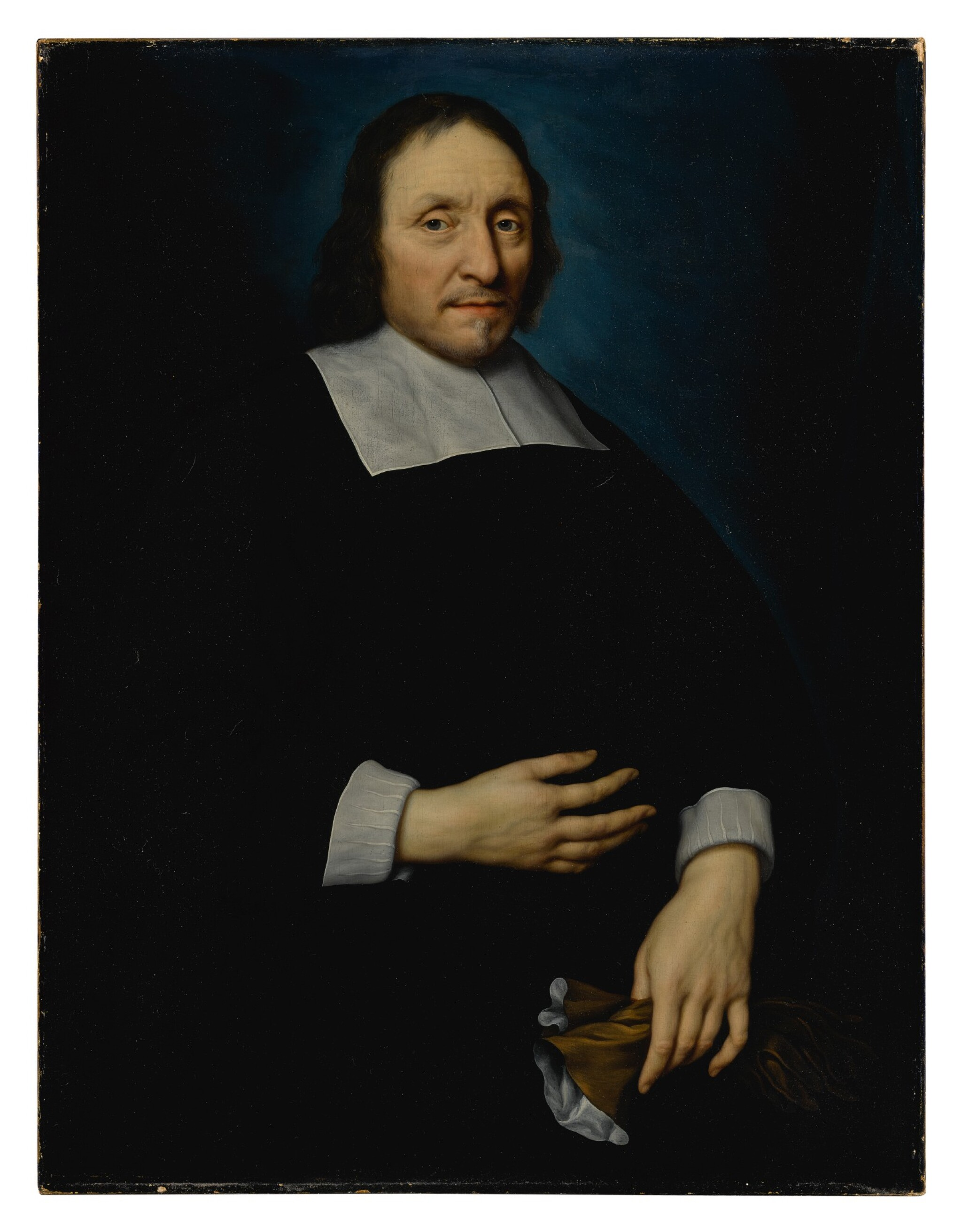 Portrait of a gentleman, half-length, holding a pair of gloves