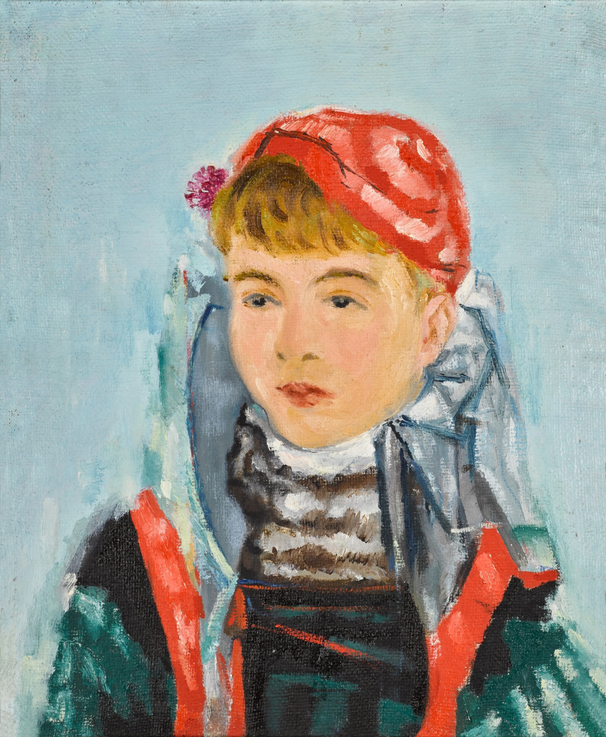 View full screen - View 1 of Lot 111. Girl in a Red Beret.