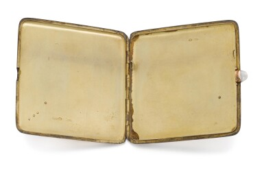 View 4. Thumbnail of Lot 64. A Fabergé jewelled silver cigarette case, workmaster Michael Perchin, St Petersburg, circa 1890.