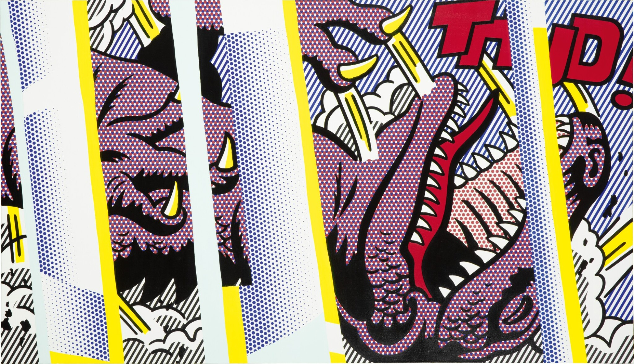 View full screen - View 1 of Lot 1112. Roy Lichtenstein 羅伊・李奇登斯坦 | Reflections on Thud! .
