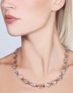 PRASIOLITE, SPINEL AND DIAMOND NECKLACE, MICHELE DELLA VALLE