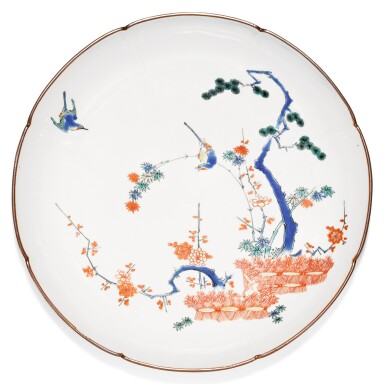 A KAKIEMON DISH, EDO PERIOD, LATE 17TH CENTURY
