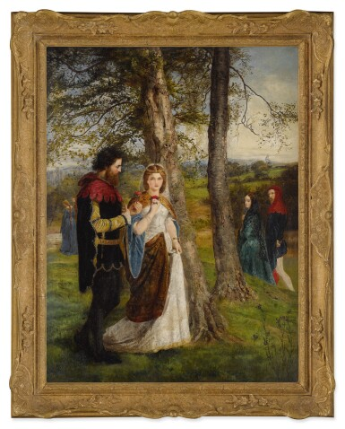 View 2. Thumbnail of Lot 22. JAMES ARCHER   SIR LAUNCELOT AND QUEEN GUINEVERE.