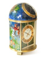 'Moyen Age' Pendulette Dôme, Ref. 1386M Unique gilt brass table clock with cloisonné enamel made by Elisabeth Perusset Lagger Made in 1992 | 百達翡麗1386M型號「'Moyen Age' Pendulette Dôme」獨一無二鍍金黃銅掐絲琺瑯座鐘,Elisabeth Perusset Lagger 1992年製
