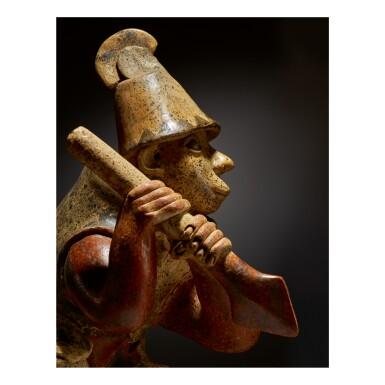 View 2. Thumbnail of Lot 154. JALISCO STANDING WARRIOR, AMECA STYLE PROTOCLASSIC, CIRCA 100 BC-AD 250.