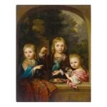 ARNOLD BOONEN | PORTRAIT OF THE GEELVINCK CHILDREN: NICOLAAS (1706-1764), CORNELIS (1705 - ?) AND CATHARINA JACOBA GEELVINCK (1710-1759)
