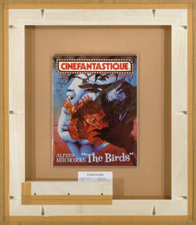 THE BIRDS (1963) ORIGINAL PAINTING, FRENCH