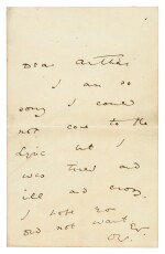 WILDE | autograph letter signed, to Arthur [Clifton]
