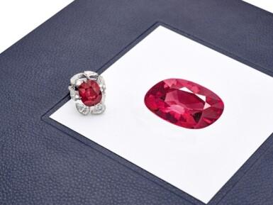 View 4. Thumbnail of Lot 1732. Ruby and Diamond Ring | 15.45克拉 天然「馬達加斯加」紅寶石 配 鑽石 戒指.