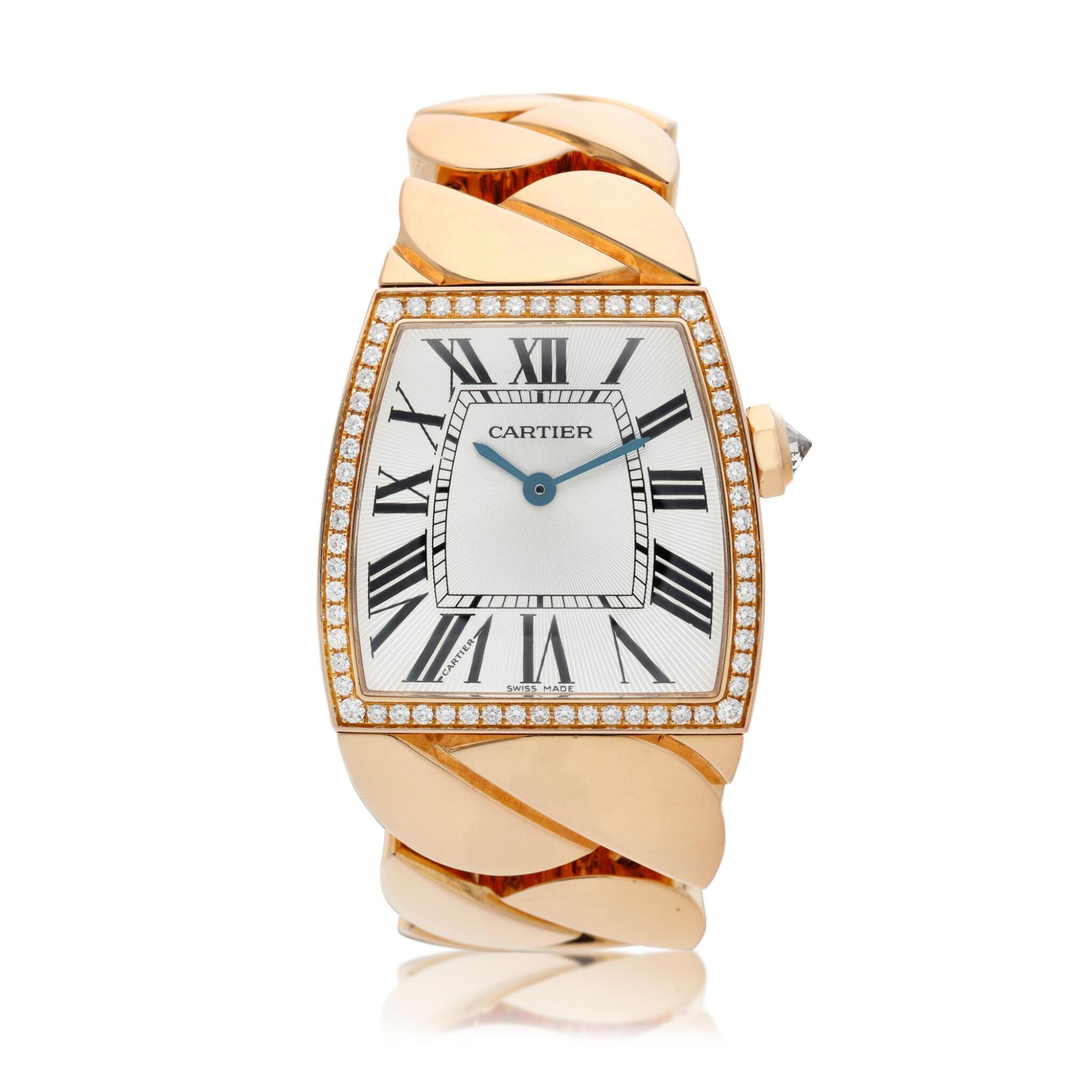 View full screen - View 1 of Lot 19. Reference 2896 La Dona  A pink gold and diamond-set bracelet watch, Circa 2010.