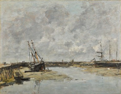 View 1. Thumbnail of Lot 32. Trouville, les jetées, marée basse.