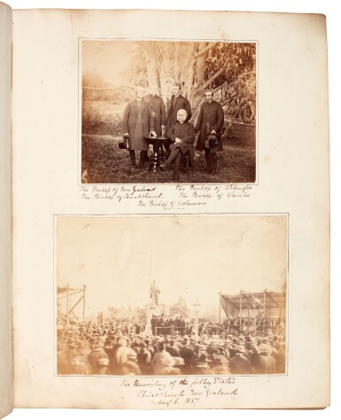 View 2. Thumbnail of Lot 40. BARKER, and others | Album of photographs of New Zealand, Jamaica and England, 1863-82.