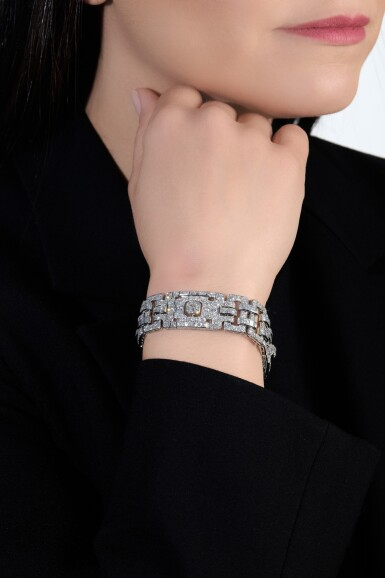 View 4. Thumbnail of Lot 608. Boucheron | Diamond bracelet, circa 1925 | 寶詩龍 | 鑽石手鏈,約1925年.