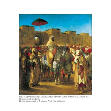 View 3. Thumbnail of Lot 28. JEAN-JOSEPH BENJAMIN-CONSTANT | THE KING OF MOROCCO LEAVING TO RECEIVE A EUROPEAN AMBASSADOR.
