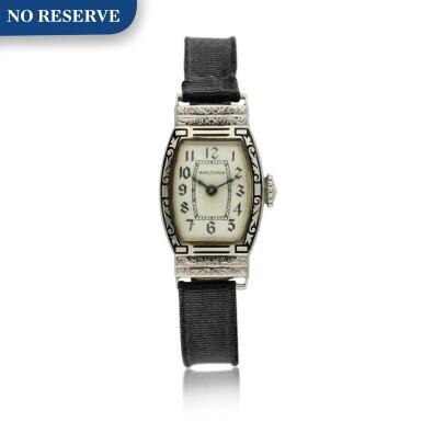 View 1. Thumbnail of Lot 162. A white gold wristwatch, Circa 1925 .