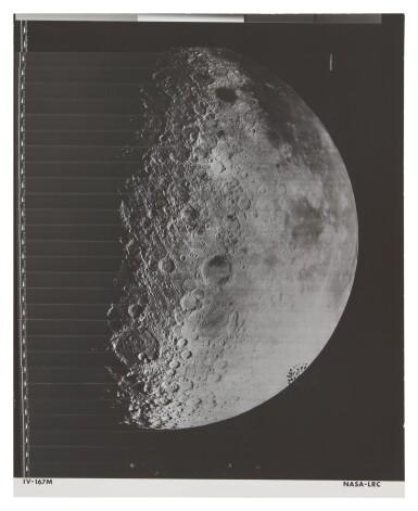 LUNAR ORBITER IV. NEARSIDE OF THE MOON WITH SCHICKARD CRATER, MARE HUMORUM, & OCEANUS PROCELLARUM, 11-26 MAY, 1976.