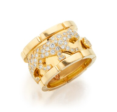 GOLD AND DIAMOND 'PANTHÈRE' RING, CARTIER, FRANCE
