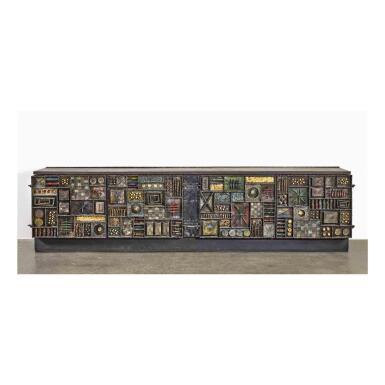 """View 1. Thumbnail of Lot 120. A Unique """"Sculpture Front"""" Cabinet."""