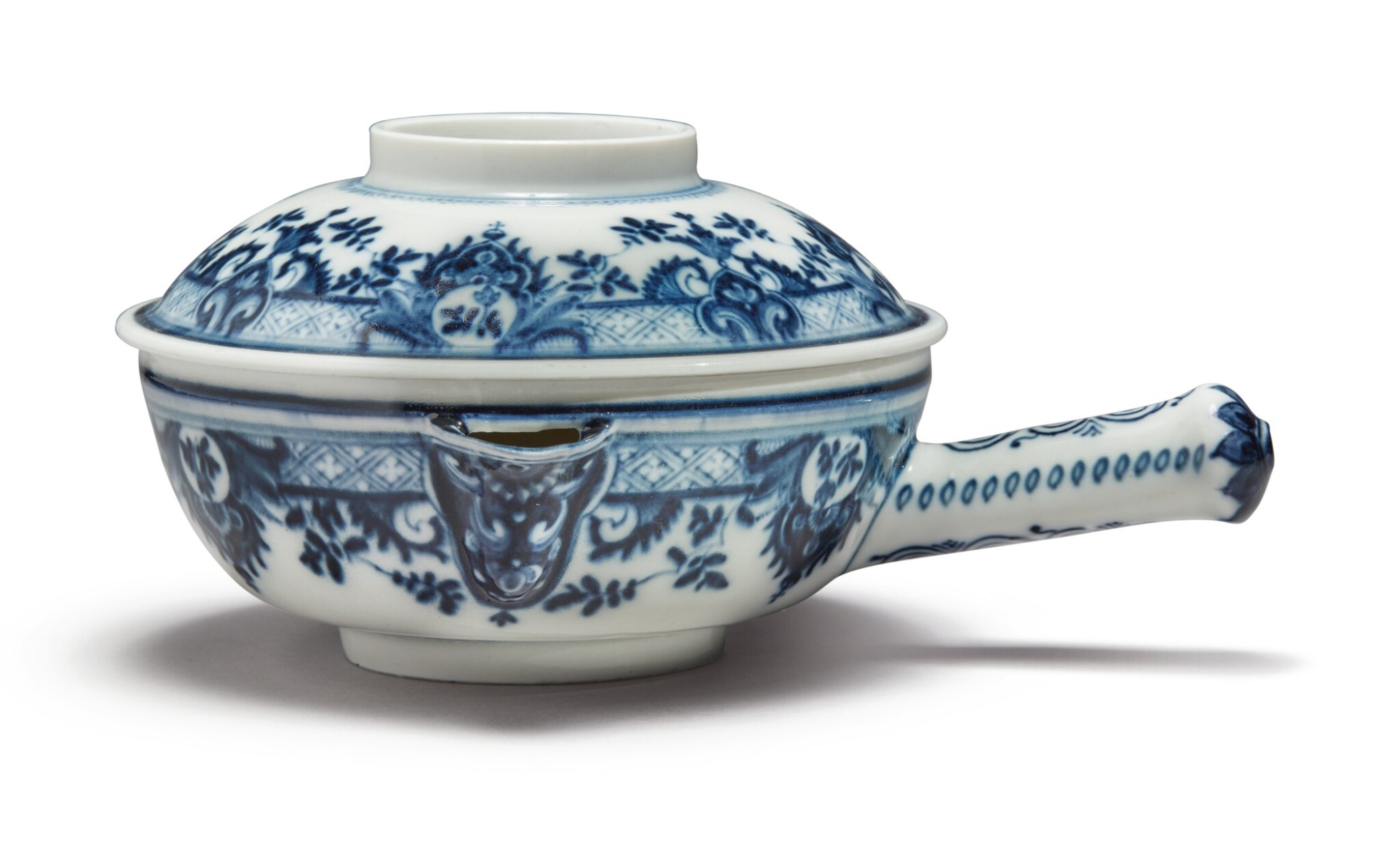 View full screen - View 1 of Lot 206. A MEISSEN BLUE AND WHITE SAUCEPAN, CIRCA 1730.
