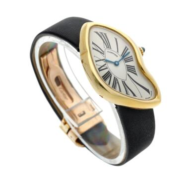 View 3. Thumbnail of Lot 306. Crash  A commissioned piece yellow gold asymmetrical wristwatch, Circa 2007.