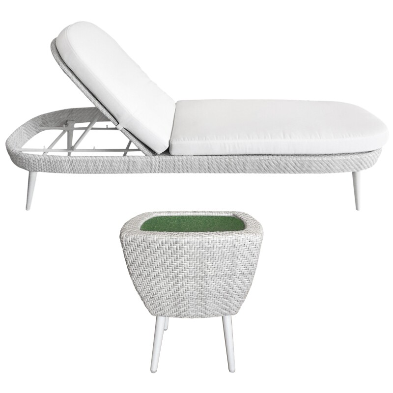 Katachi Chaise And Side Table