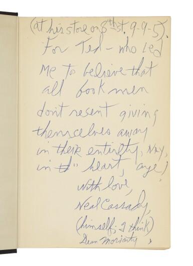 View 1. Thumbnail of Lot 121. (CASSADY, NEAL) | Kerouac, Jack. On the Road. New York: Viking Press, 1957.
