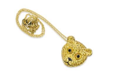 Yellow sapphire, agate and diamond pendant, 'Orso', Michele della Valle