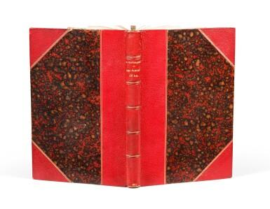 View 2. Thumbnail of Lot 67. Les fleurs du mal. 1857. Envoi à J. Leman. Un des 15 ex. connus relié à l'ép. avec envoi. Corrections aut..