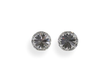 A Pair of 0.50 Carat Round Diamonds, F Color, VS2 and SI1 Clarity