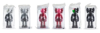 KAWS | 同伴與切開同伴(灰色、黑色與紅色)(六件)Companion and Dissected Companion (Grey, Black and Red) (six works)