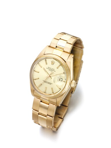 ROLEX   DATE REF 1507 A PINK GOLD AUTOMATIC CENTER SECONDS WRISTWATCH WITH DATE AND BRACELET CIRCA 1963