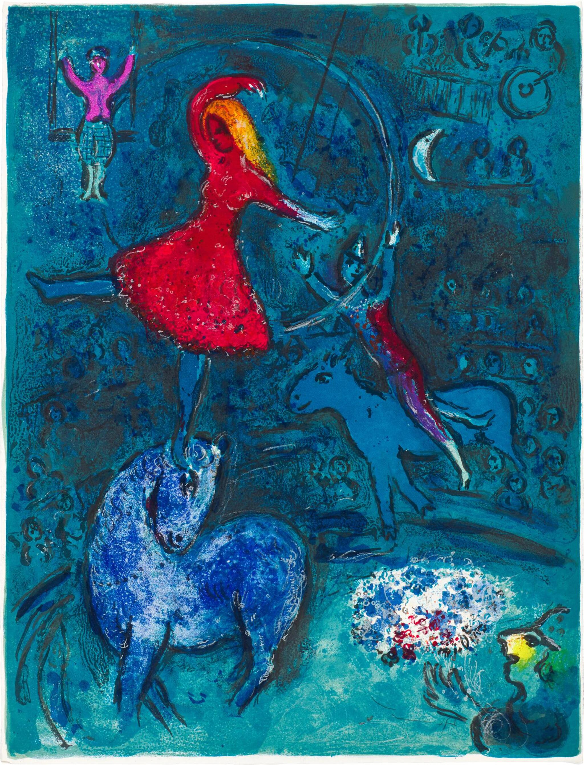 View full screen - View 1 of Lot 24. MARC CHAGALL | LE CIRQUE: ONE PLATE (M. 493; C. BKS. 68).