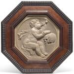 NETHERLANDISH, 17TH CENTURY | MEMENTO MORI RELIEF WITH A PUTTO BLOWING BUBBLES