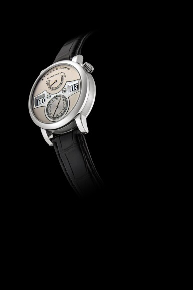 View 4. Thumbnail of Lot 2021. A. Lange & Söhne | Zeitwerk, Reference 140.025, A limited edition platinum wristwatch with digital time display and power reserve indication, Circa 2009 | 朗格 | Zeitwerk 型號140.025 限量版鉑金腕錶,備跳字及動力儲備顯示,約2009年製.