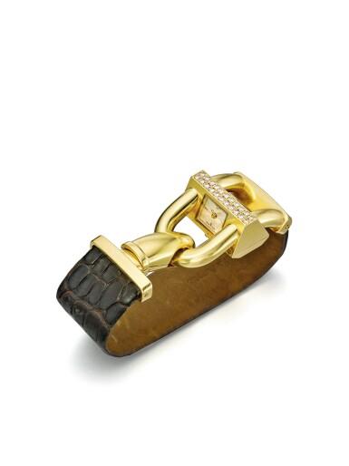 View 2. Thumbnail of Lot 45. VAN CLEEF & ARPELS | CADENAS  A YELLOW GOLD AND DIAMOND SET WATCH CIRCA 2000.