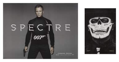 SPECTRE (2015) TWO POSTERS: BRITISH, ADVANCE, DOUBLE-SIDED, WITH BRITISH, IMAX