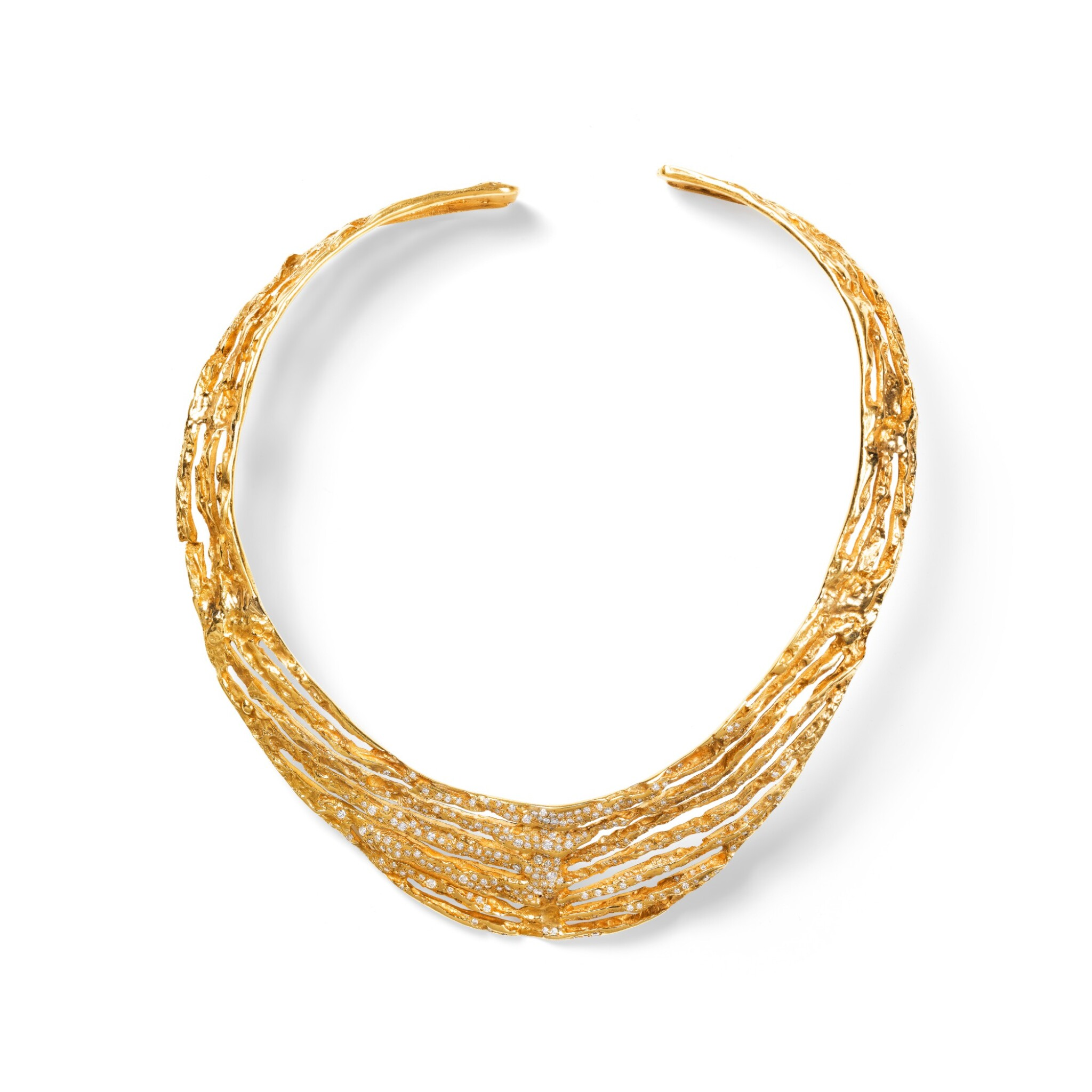 Takis, Gold and diamond necklace [Collier or et diamants]