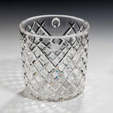 View 3. Thumbnail of Lot 99. A NEAR PAIR OF GLASS CHAMPAGNE BUCKETS, 20TH CENTURY.